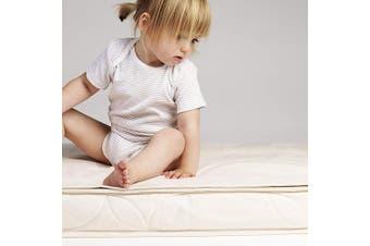The Little Green Sheep Organic Waterproof Cot Bed Mattress Protector (70x132cm - Boori size)