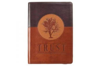Trust Jeremiah 17:7-8 Journal Lux-Leather Brown with Zipper: Blessed Is the Man Who Trusts in the Lord
