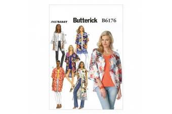 Butterick Patterns B6176ZZ0 Misses' Kimono Sewing Template, ZZ (LRG-XLG-XXL)