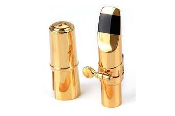 Aibay® Plated Eb Alto Saxophone Metal Mouthpiece + Cap + Ligature Gold #7