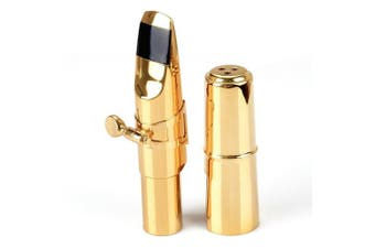 Aibay® Plated Bb Tenor Saxophone Metal Mouthpiece + Cap + Ligature Gold #7