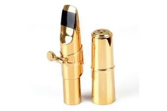 Aibay® Plated Bb Tenor Saxophone Metal Mouthpiece + Cap + Ligature Gold #6