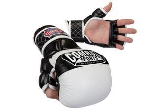(Large, White) - Combat Sports Max Strike MMA Training Gloves