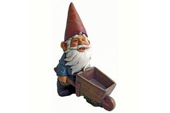 Design Toscano Wheel Barrel Willie Garden Gnome Statue, Multicoloured