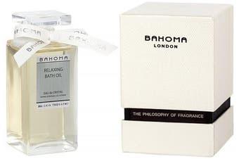 Bahoma Eau De Cristal Luxurious Gift Box with a 100 ml Bath Oil in a Glass Bottle
