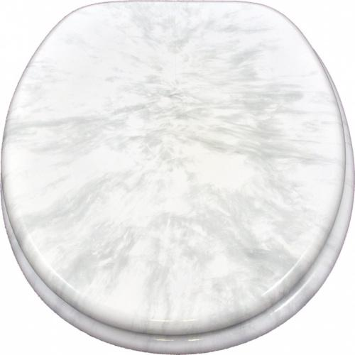 Sanicomfort Marble Toilet Seat White 1915983 Matt Blatt