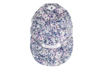 Canvas Baseball Hat Hip-Pop Hat Summer Sun Cap With Fashionable Patterns Blue