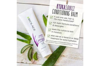 (280ml) - BIOLAGE Hydrasource Conditioning Balm | Hydrates, Nourishes & Detangles Dry Hair | Sulphate-Free | For Medium To Coarse Hair