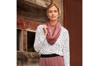 (Marsala) - Bebe au Lait Premium Jersey Nursing Scarf, Lightweight and Breathable Cotton, One Size Fits All - Marsala