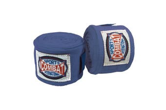 (Blue) - Combat Sports Semi-Elastic Handwraps