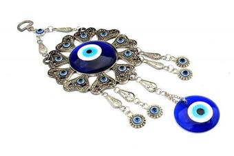Blue Evil Eye Hanging Ornament for Protection (With a Betterdecor Pounch)-001