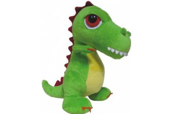 (T-Rex, M, Green) - Suki Gifts International Soft Toy (Medium, T-Rex Dino)