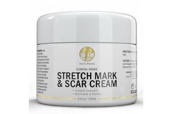 Best Stretch Mark Cream HUGE 120ml - For Removal & Prevention of new and old stretch marks & scars - Natural & Organic Formula for Pregnancy with Vitamin E & Shea Butter