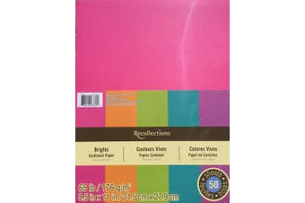 (1) - Recollections Cardstock Paper, Brights 22cm X 28cm