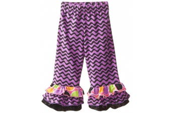 Flap Happy Baby Girls' Triple Ruffle Pant, Wisteria Waves, 12 Months