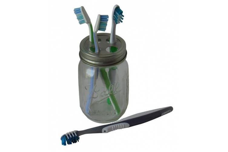 Four Hole Toothbrush Holder Adapter for Mason Jars