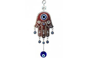 Red Hamsa Evil Eye Protection Almulet Hanging