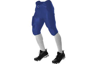 (38, Royal) - Alleson Athletic Youth Unisex Dazzle Integrated Football Pants