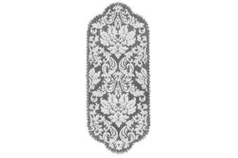 (36cm  by 90cm , Pearl) - Heritage Lace Heritage Damask 36cm by 90cm Runner, Pearl