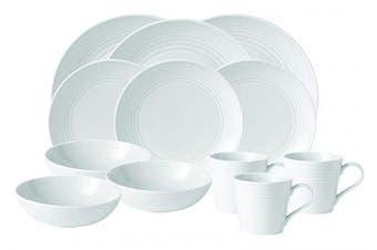"""(MAZE WHITE CEREAL BOWL 7"""" 24 OZ, White) - Gordon Ramsay by Royal Doulton Maze White All-Purpose 18cm Bowl, 710ml by Royal Doulton"""