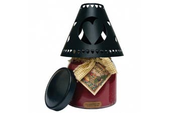 A Cheerful Giver Heart Tin Candle Shade, Black
