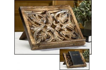 Ornate Wood Carved Bible / Missal Stand