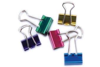 (1, ASSORTED) - Mini Binder Clips .13cm 12/Pkg