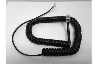 The VoIP Lounge Replacement 2.7m Black Handset Curly Cord for Yealink SIP Phone