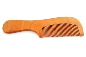 (With Handle) - 5starwarehouse® Mens Top Quality Wooden Beard Comb Moustache Handmade Mahogany Pocket Wax Oil UK (With Handle)