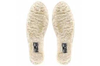 (UK 8, Beige) - Womens Fur Lined InsoleS For Polar Wellington Boots