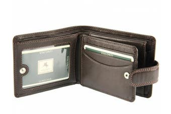 (Brown) - Visconti Heritage Collection Mens Gents Leather Wallet For Credit Cards, Banknotes & Coins - HT10