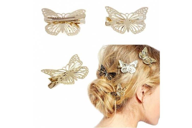 Malloom® Golden Butterfly Hair Clip Headband Hair Accessories Headpiece