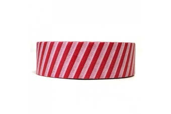 (Red and White Stripes) - Allydrew Decorative Washi Masking Tape, Red and White Stripes