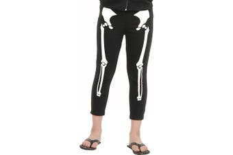 (Medium/Large) - Charades Skeleton Children's Costume Leggings, Medium/Large
