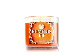 Bath and Body Works 430ml 3-wick Candle Pumpkin Pie, New for 2015