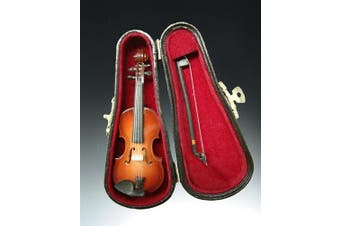 10cm Violin Miniature with Case