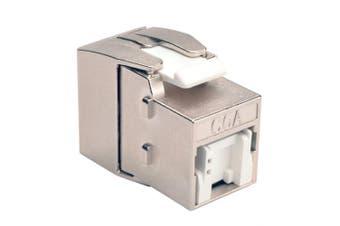 Toolless Shielded Cat6a Keystone Jack - Gray