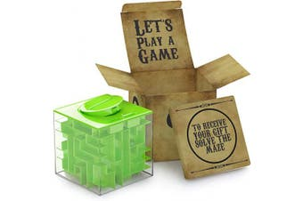 (Green) - AGREATLIFE Money Maze Puzzle Box for Kids and Adults - Unique Way to Give Gifts Puzzle Box and Fun Casse Tete for Kids