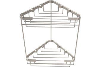 (Satin Nickel) - Allied Brass BSK-20DT-SN Solid Double Corner Shower Basket, Satin Nickel