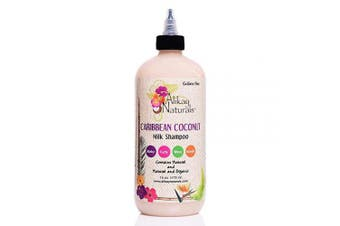 (470ml) - Alikay Naturals Caribbean Coconut Milk Shampoo Natural Nettle, Coconut Milk & Oil 470ml