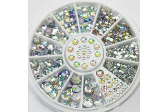 (Multi Color) - GREAT MIXED DIY SIZE GLITTER RHINESTONES CHARM 3D NAIL ART DECOR ACCESSORIES