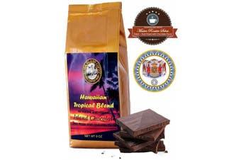 (Chocolate Fudge) - Kona Hawaiian Coffee Blend, Chocolate Flavour, 240ml Whole Bean