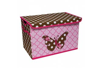 (Butterflies) - Bacati - Storage Tote (Toy Chest 37cm L x 60cm W x 38cm H, Butterflies)