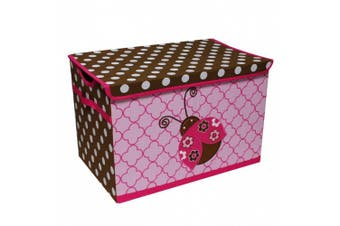 (Ladybugs) - Bacati - Storage Tote (Toy Chest 37cm L x 60cm W x 38cm H, Ladybugs)