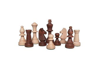 Gugertree Wood Weighted Chess Pieces - Pieces Only - No Board - 8.9cm King