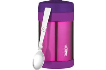 Thermos 470ml Food Jar with Folding Spoon, Pink