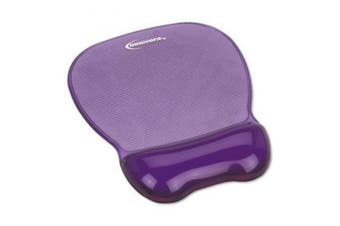 (11.6 x 25cm  x 3.3cm , Purple) - Gel Mouse Pad w/Wrist Rest, Nonskid Base, 8-1/4 x 23cm - 1.6cm ., Purple