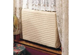 (Small) - Indoor Air Conditioner Cover (Beige) (Small - 12 -14H x 18 -21W x 2D)