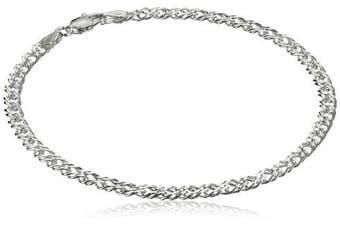 (20cm ) - Sterling Silver Interlocking Geometric Link Bracelet