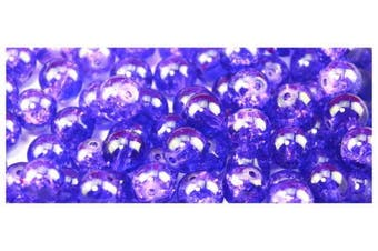 50pcs 10mm Purple Crackle Glass Beads crackle glass beads are great accessories for your necklaces, bracelet making or gift making craft projects Diy jewellery project
